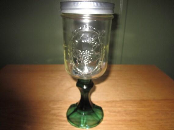 Mason jar wine glass - Stemmed mason jars ...