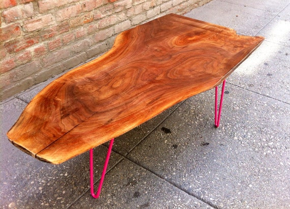 SOLD - Unique, Highly Figured Black Walnut, Live Edge Coffee Table