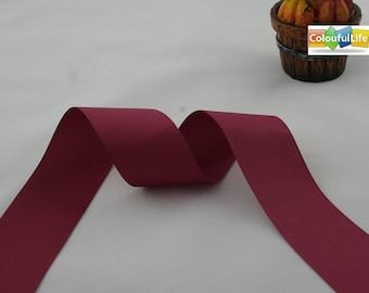 """Promotion, Free shipping, 2 yards, Grosgrain, Beauty, Dark red,  1-1/2"""", 38mm, 1.5'', 1.5 inch"""