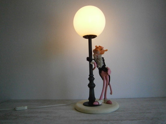 Vintage Lamp The Pink Panther 1970s Made In By Theatticoffrance