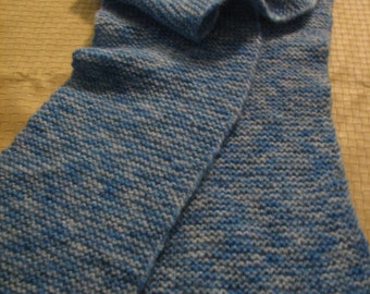 S-084 Knitted Blue Scarf