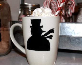 24 Snowman chalkboard Labels Christmas holiday hot cocoa party labels wine glass mug mason jar cocoa bar hot chocolate ladies tea party kids