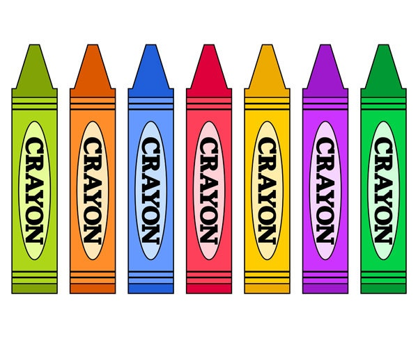 Clip Art Crayon Clip Art crayon clip art etsy colorful crayons school supplies digital instant download ydc043