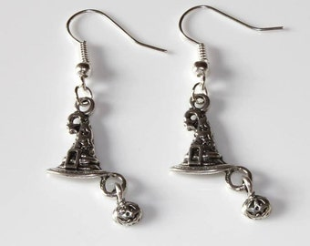 Witches Hat Tibetan Silver Earrings