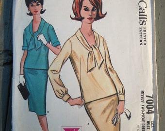 1964 McCall's Misses 2-Piece Dress Pattern 7004