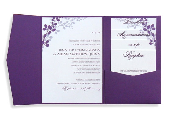 Design Your Own Wedding Invitations Template: Pocket Wedding Invitation Template Set Download By