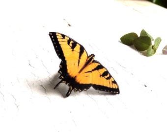 Yellow butterfly ring, butterfly ring, butterfly jewelry, summer jewelry, Insect jewelry, Butterfly wing jewelry, Christmas gift