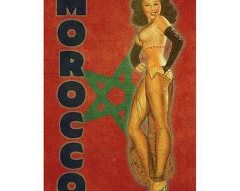 MOROCCO1PS- Handmade Leather Photo Album - Travel Art