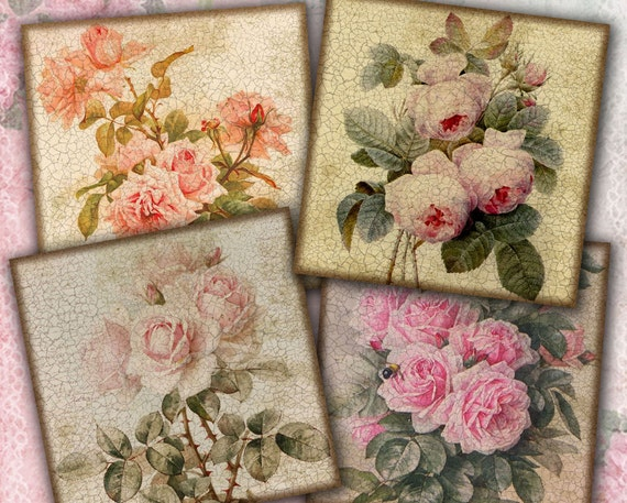 items similar to crackle floral coasters