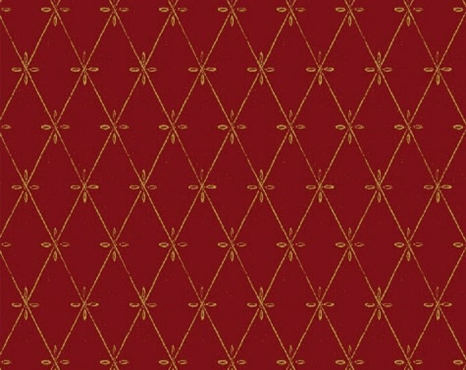 SALE!! Fat Quarter 12 Days of Christmas - Tufting in Red Cotton Quilt Fabric - by Kate McRostie - Windham Fabrics (W329)