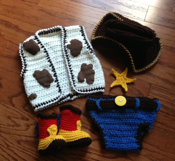 Crochet Baby Cowboy Chaps Pattern Free : Crochet cowboy outfit cowprint vest cowboy by ...