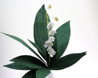 Lily of the Valley - Single Stem Paper Flower