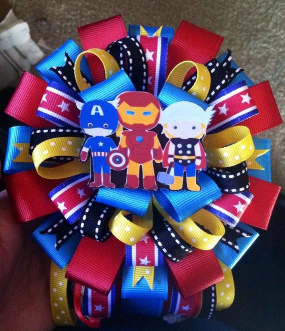 supermom avengers superhero baby shower corsage