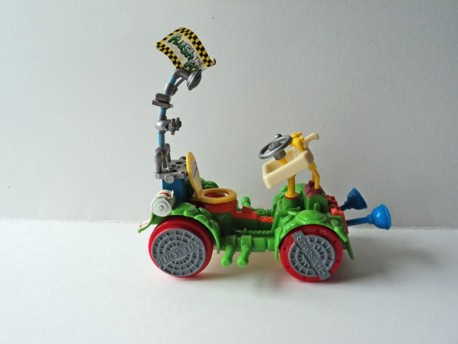 1990 S Toys : Tmnt toilet taxi vehicle toy figure playmates toys s