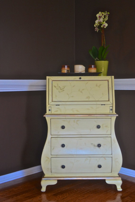 Vintage Small Secretary Writing Desk In By Theyardleycottage