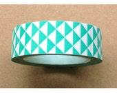 Aqua Triangle Diamond Washi Tape/ Masking Tape