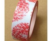 Red Dahlia Floral Washi Tape/ Masking Tape
