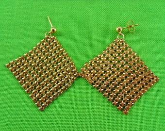 Vintage Stud and Mesh Earrings (Item 587)