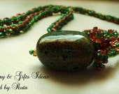 "Beaded necklace ""Verdure"" - RutaJewelry"