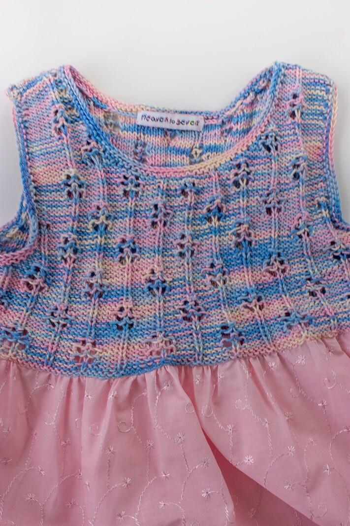 Knitting Summer Dress : Knitting pattern girls summer dress knit top