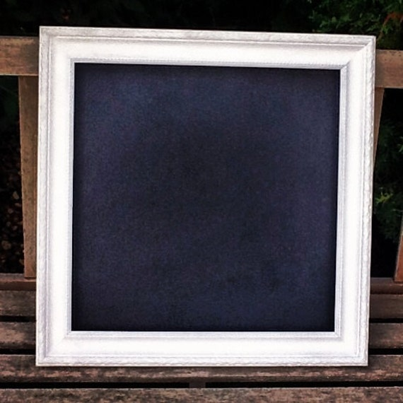 large vintage white framed chalkboard by mintagedesigns on On large framed chalkboard