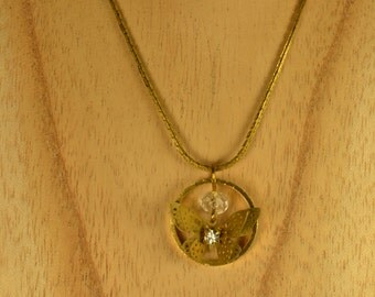 Golden brass Butterfly Necklace