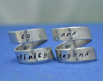 To Infinity and Beyond Rings/ Friendship Rings/ Infinity Rings/ Best Friend Rings