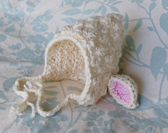 Easter Lamb Bonnet Newborn, 3-6 Month, 6-9 Month, 9-12 Month Baby Photo Photography Prop