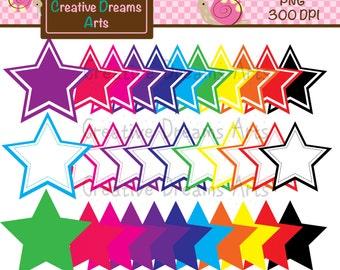 40% Off! Stars Digital Clip Art Instant Download