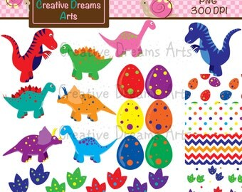 40% Off! Dinosaur Clipart Instant Download