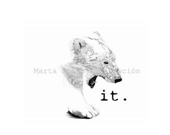 SALE -20% Bear it - A4 Print Digital Illustration