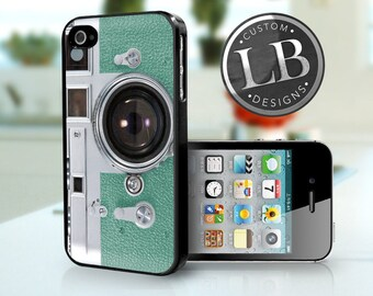 iPhone 4 4s Case - Vintage Camera Mint Green iP4