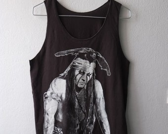 Johnny depp American Indian  movie film actor fashion rock Tank Top Vest M