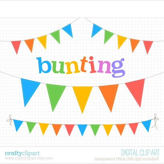 Bunting Clipart Carnival Circus Flags Digital by craftyclipart