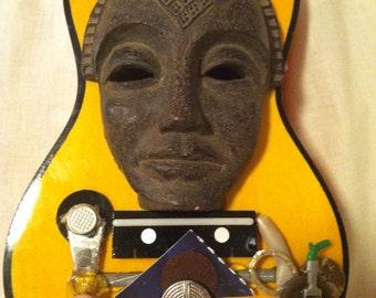 Air Water Earth ukulele dada sculpture