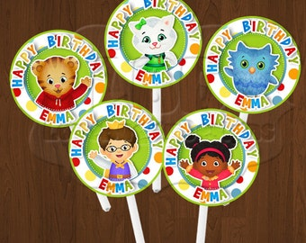 Daniel Tiger Cupcake Toppers, Daniel Tiger Birthday Party Printables- YOU PRINT