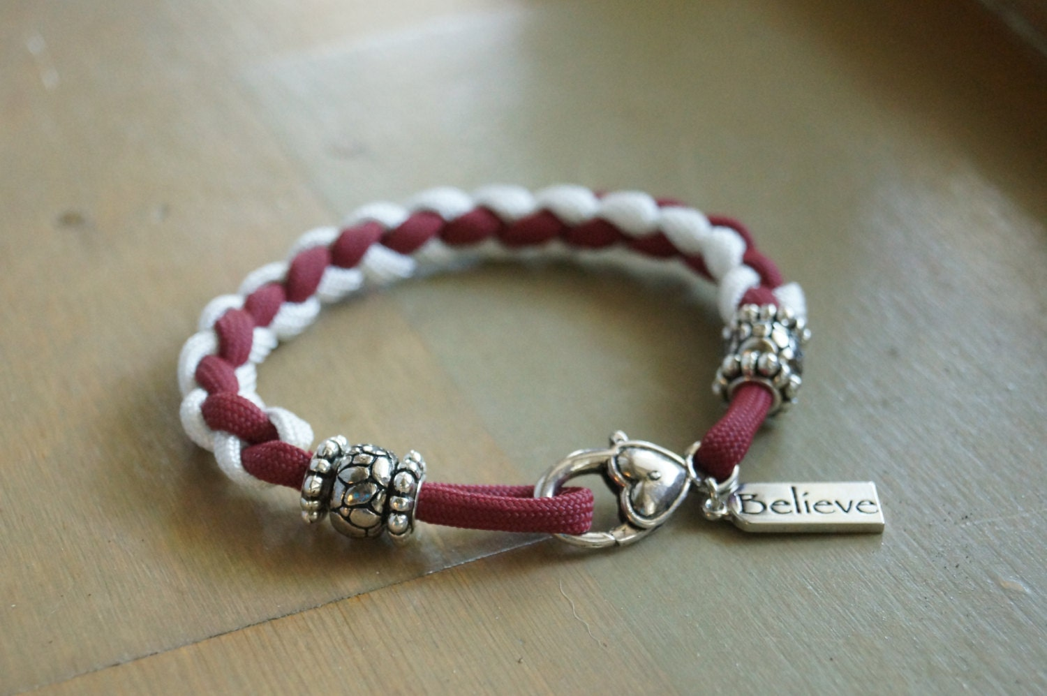 paracord bracelet with and charm by