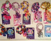 New Wave MLP hand beaded necklaces friendship is magic jewelry
