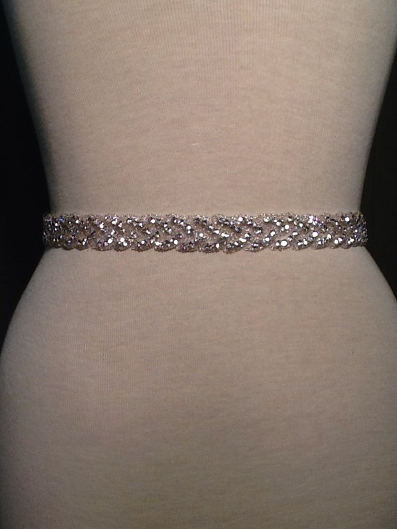 All Around Beading Bridal Belt Wedding Belt By