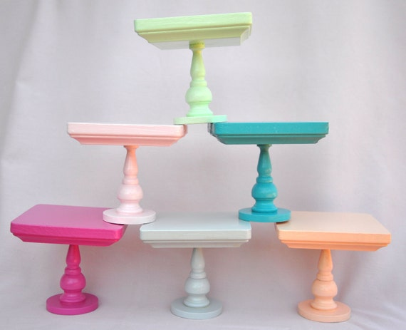 mini cake stand items similar to mini cake stand 4 quot square top available 5918
