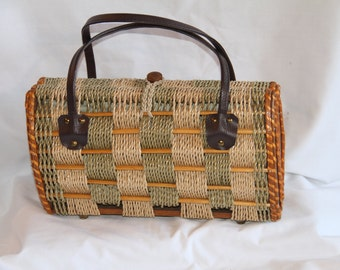 Rope and Wood Handbag/Purse