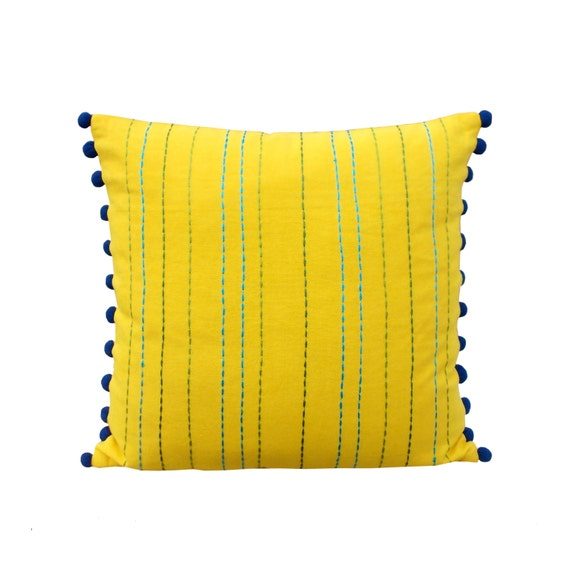 Etsy Yellow Throw Pillow : Yellow throw pillow cover cotton pillow cover house wares