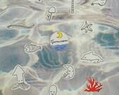 Unter dem Meer-Aufkleber
