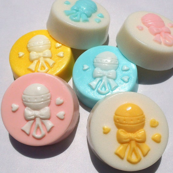 10 baby shower favors soap favors baby shower soap baby rattle