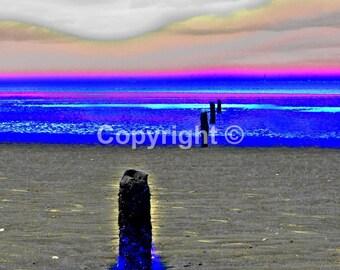 Beach View near Prestatyn - Print Run of 100