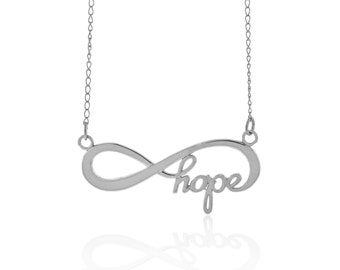 Sterling Silver Infinity Hope Necklace