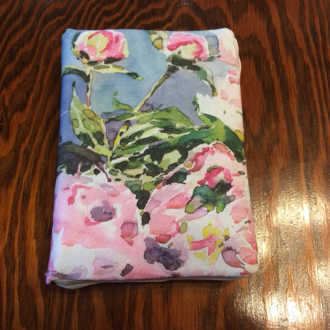 Book Cover Watercolor Zipper ~ Floral watercolor zipper cover for new world by
