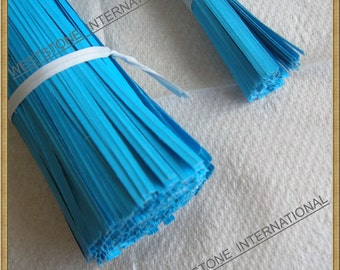 200 pcs 4 in Paper Twist Ties for cello bags - Blue