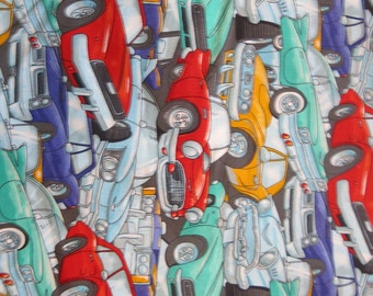 """1/2 yard of 100% cotton """"Vintage cars"""" fabric"""