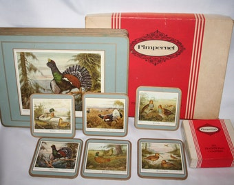 Collection Of Six Traditional Table Mats And Six Coasters - Exclusive Design /. MEMsArtShop